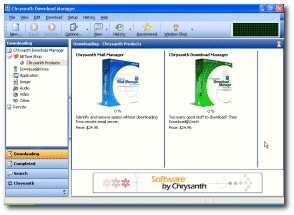 Chrysanth Download Manager's main window